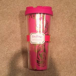 NEW Lilly Pulitzer GIMMME SOME LEG Thermal Mug